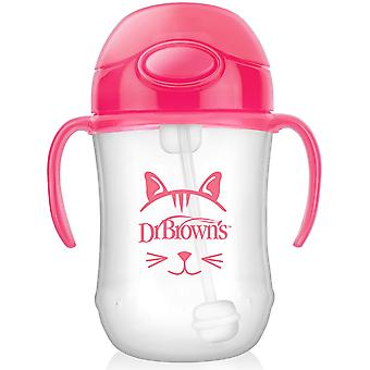 Dr Brown's 270ml Baby Straw Cup Pink