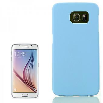 Hårdt case lys blå gummi etui til Samsung Galaxy S6 G920 G920F