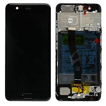 Huawei näyttö LCD-yksikkö + kehys P10 Service Pack 02351DGP musta uusi
