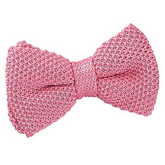 Morango rosa de malha laço gravata para meninos