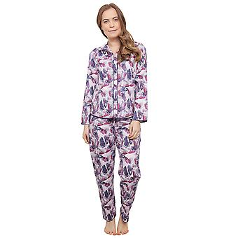 Cyberjammies 3867 Damen Cassie Pink Floral Pyjama Pyjama Top