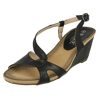 Ladies Eaze High Wedge Sandal