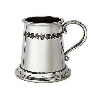 Shamrock Band Child's Pewter Mug - � pint
