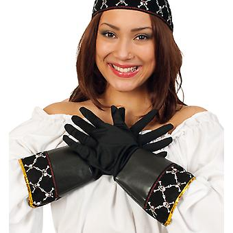 Piraten handschoen leer kapitein accessoire