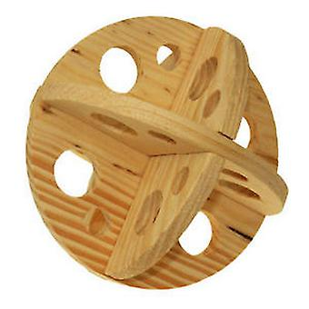 Ancol Wooden Roll N Chew Ball