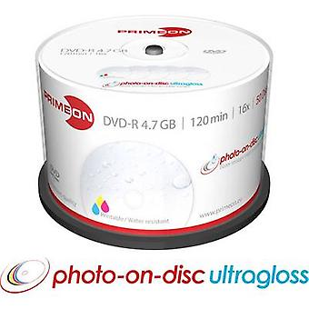 Primeon 2761207 Blank DVD-R 4.7 GB 50 pc(s) Spindle Printable, Glossy surface, Waterproof, Smearproof