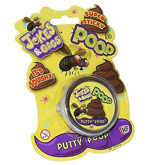 Squishy Super Sticky Brown Poo Putty Slime Tub