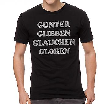 Gunter Glieben Glauchen Globen Rock Song Graphic Men's Black T-shirt