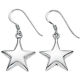 Petit de débuts soufflé Star boucles d'oreilles - argent