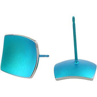 Ti2 עגילי טיטניום עם כיפת כיפה-שלדג כחול