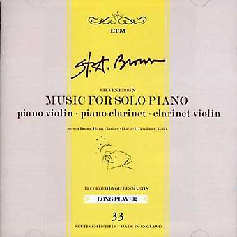 Steven Brown - Music for Solo Piano [CD] USA import
