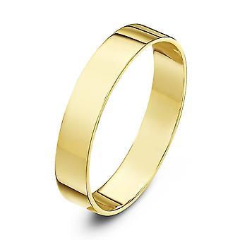 Star Wedding Rings 18ct Yellow Gold Light Flat 3mm Wedding Ring