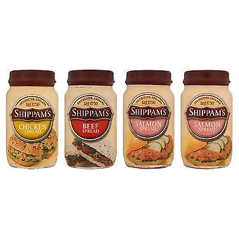 Shippams アソートおいしいスプレッド