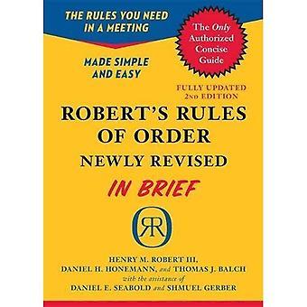 Roberts regler för ordning nyligen reviderade i korthet, 2nd edition