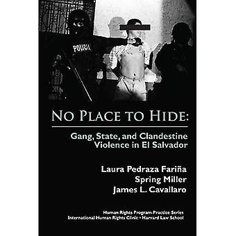 Kein Platz zum verstecken: Gang, Staat und heimliche Gewalt in El Salvador