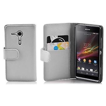 Cadorabo Housse pour Sony Xperia SP cas cover - Pochette de téléphone en faux cuir texturé avec fonction de stand et compartiment à cartes - Couverture Coque Étui Sac de poche Style pliant
