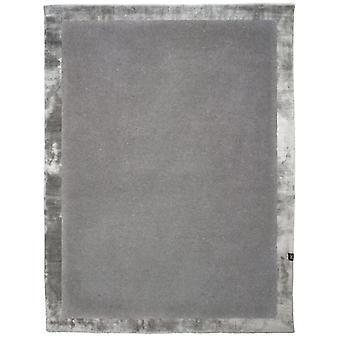 Rugs -Milan Tencel Border - Silver