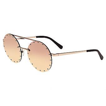 Bertha Harlow polarisierte Sonnenbrille - Rose Gold/Rose Gold