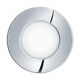 Eglo - Fueva 1 glanzend verchroomd laag profiel badkamer LED Down licht Warm wit EG96053