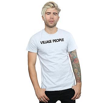 Byn personer mäns Text Logo T-Shirt