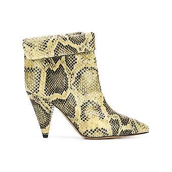 Isabel Marant 19pbo022419p006s23nl Women's Black/green Snake Skin Ankle Boots