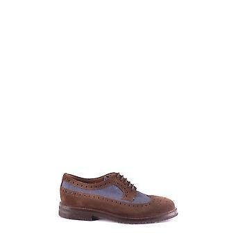 Brunello Cucinelli Ezbc002072 Men's Brown Suede Lace-up Shoes