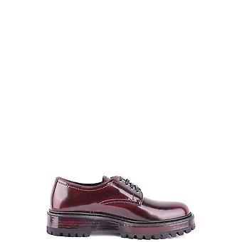 Car Shoe Ezbc029003 Women's Burgundy Leather Lace-up Shoes