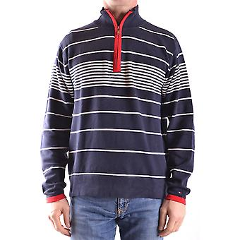 Tommy Hilfiger Ezbc075004 Men's Blue Cotton Sweater
