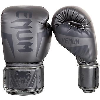 Venum Elite Hook and Loop MMA Training Boxing Gloves - All Gray