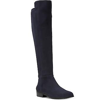 Michael Kors Womens Bromley Leather Closed Toe Knee High Riding Boots