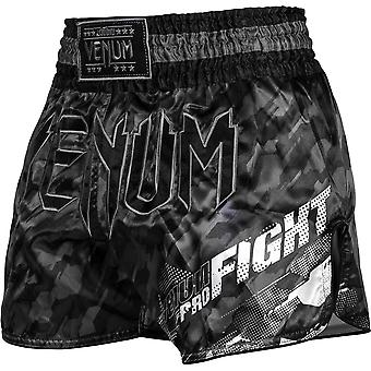 Venum Tecmo Muay Thai Shorts - Dark Gray