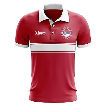 Serbien-Konzept-Streifen-Polo-Shirt (rot)