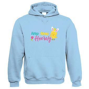 Hip Hip Hooray Easter Chick Hoodie - Easter Gift Him Her Birthday