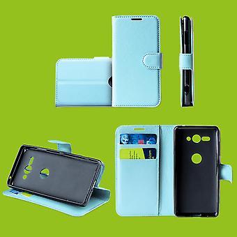 For Huawei P30 lite bag lommebok Premium blå beskyttelse tilfelle dekke saken nytt tilbehør
