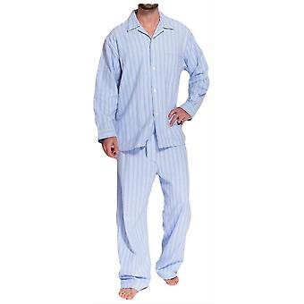 British Boxers Westwood Two Fold Flannel Pyjamas - Blue