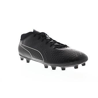 Puma één 4 FG mens zwarte lage top Lace up atletische Soccer cleats schoenen