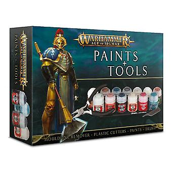 Games Workshop - Warhammer - Age Of Sigmar Paints + Tools