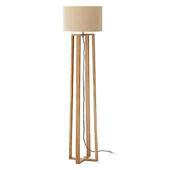 Fusion Living natuurlijke houten vloer lamp