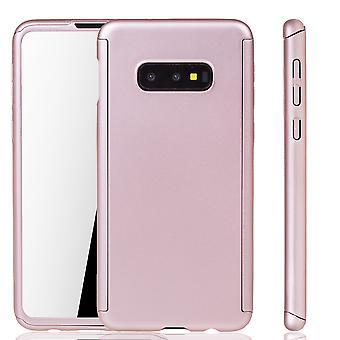 Samsung Galaxy S10e Handy-Hülle Schutz-Case Full-Cover Panzer Schutz Folie Rose