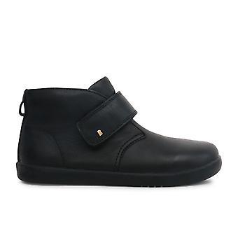Bobux Kid + jongens Desert school laarzen zwart