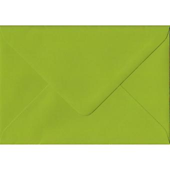 Fresh Green Gummed C7/A7 Coloured Green Envelopes. 100gsm FSC Sustainable Paper. 82mm x 113mm. Banker Style Envelope.