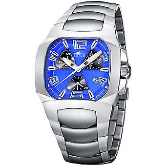 Lotus chronograph Quartz Analog Man Watch with 15501/5 Stainless Steel Bracelet