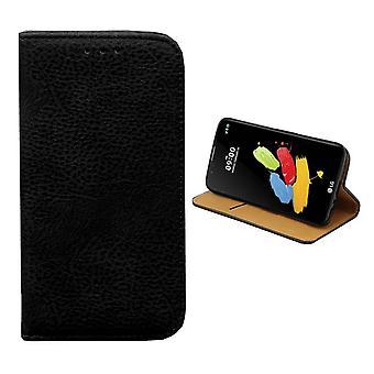 Bookcase PU Lederlook voor LG Stylus 2 - Plus Zwart