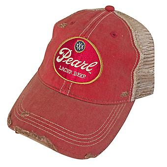 Pearl Lager Retro Brand Orange Men's Trucker Hat