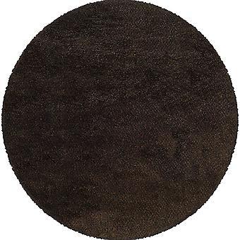 Loft collection 520b4 brown/black tweed area rug (8'round)