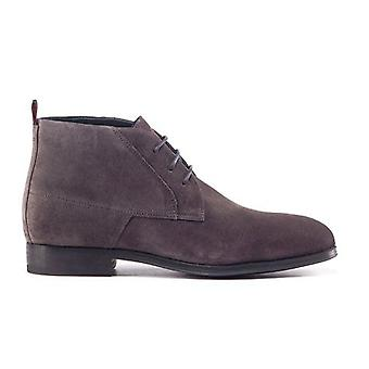 Hugo Boss Footwear Hugo Boss Men's Dark Grey Desert Suede Boots
