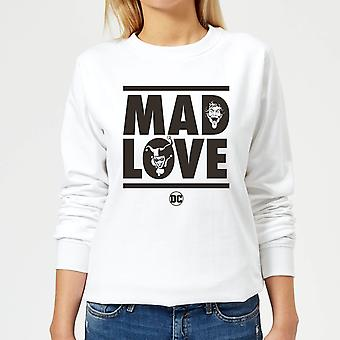 Batman Mad Love Women-apos;s Sweatshirt - Blanc