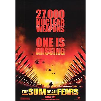 The Sum Of All Fears (Advance Double Sided) (2002) Original Cinema Poster