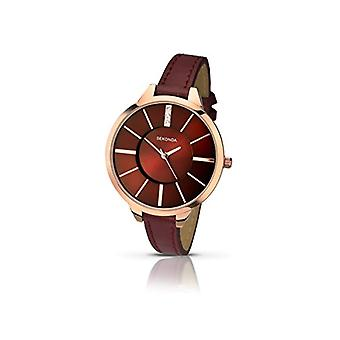 Sekonda wrist watch, analog, female, League, Red