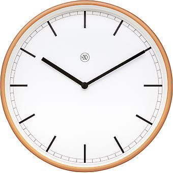 NXT-Wall Clock-Ø 30 cm-Muovi-valkoinen/Matt Rose-' Martin '